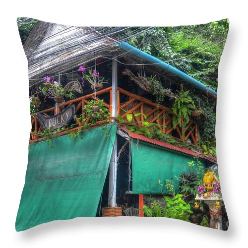 Michelle Meenawong Throw Pillow featuring the photograph Rocky by Michelle Meenawong
