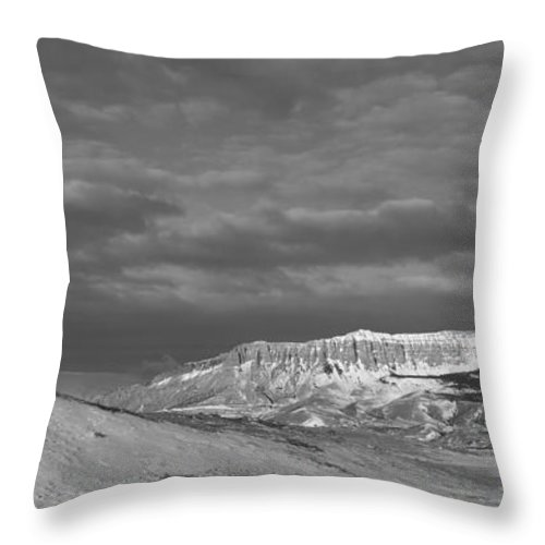 Rocky Mountain Front Throw Pillow featuring the photograph Rocky Mountain Front by Fran Riley