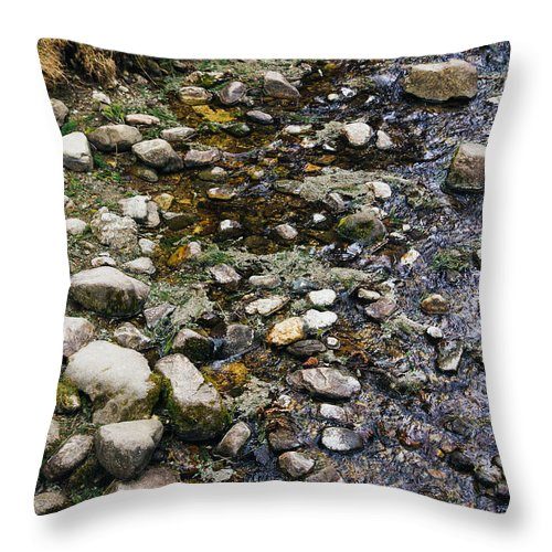 River Throw Pillow featuring the photograph Rocky River by Pati Photography