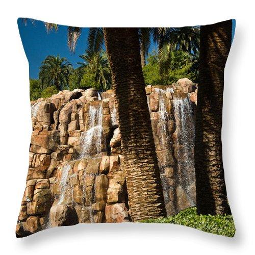 Waterfall Throw Pillow featuring the photograph Rocky Waterfall 2 by Douglas Barnett