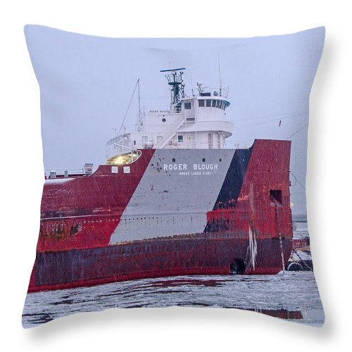 Rodger Blough Throw Pillow featuring the photograph Roger Blough by Susan McMenamin