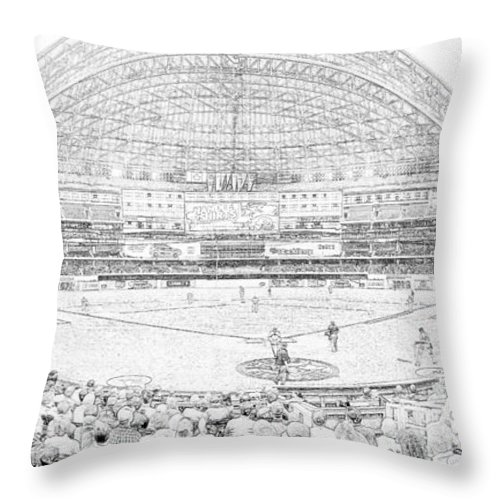 Rogers Centre Throw Pillow featuring the photograph Rogers Centre Line by C H Apperson