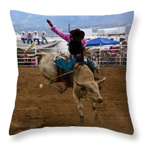 Rodeo Throw Pillow featuring the photograph Rollercoaster by Patrick Moore
