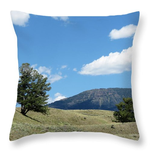 Yellowstone National Park Throw Pillow featuring the photograph Rolling Hills by Laurel Powell