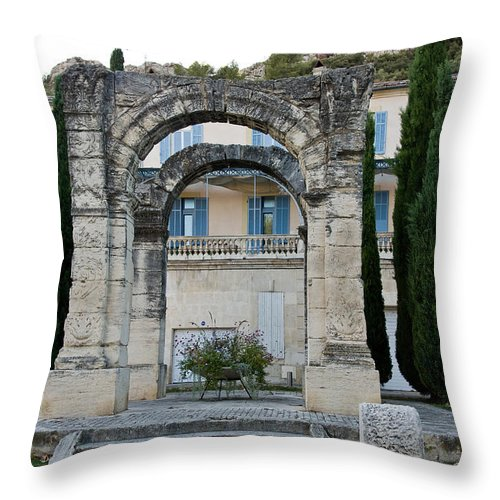 Europe Throw Pillow featuring the photograph Roman Arch In Cavaillon by Oleg Koryagin