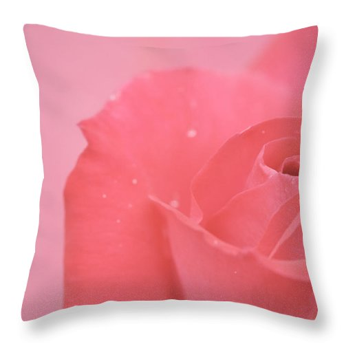 Pink Throw Pillow featuring the photograph Romance by Lisa Knechtel