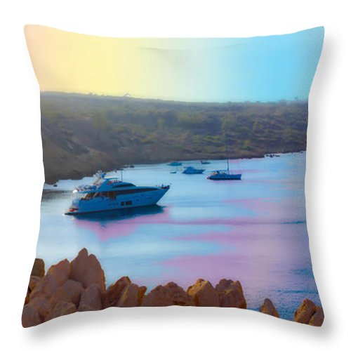 Augusta Stylianou Throw Pillow featuring the photograph Romantic Beach by Augusta Stylianou