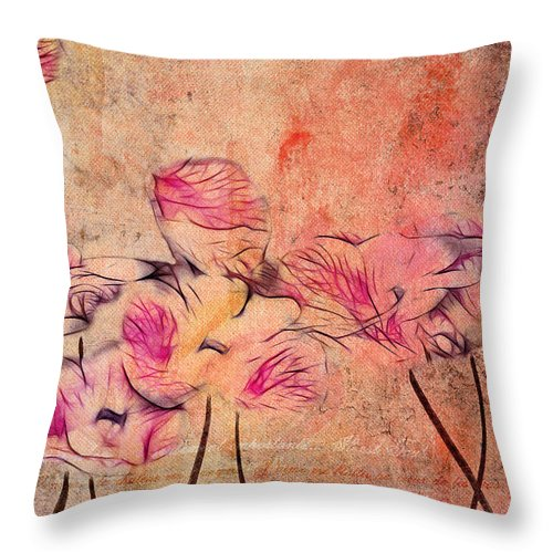 Pink Throw Pillow featuring the digital art Romantiquite - 44bt22 by Variance Collections