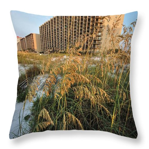 Palm Throw Pillow featuring the digital art Romar Beach Sunrise Beach3 by Michael Thomas