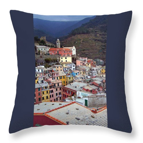 Cities Throw Pillow featuring the photograph Rooftop View by Jennifer Robin
