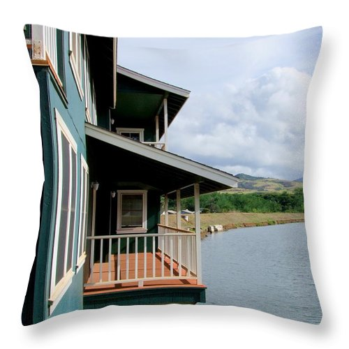 Balcony Throw Pillow featuring the photograph Room With A View by Mary Deal