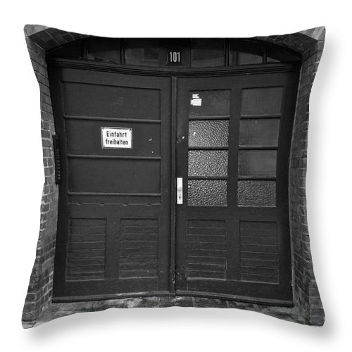 Kassel Throw Pillow featuring the photograph Room101 by Denvie Green
