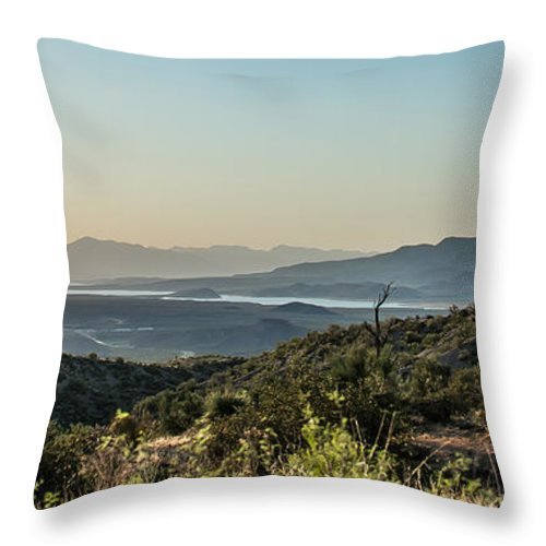 Roosevelt Lake Throw Pillow featuring the photograph Roosevelt Lake by Stacy Fortson