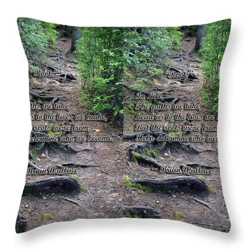 3d Throw Pillow featuring the photograph Roots - Cross Your Eyes And Focus On The Middle Image That Appears by Brian Wallace
