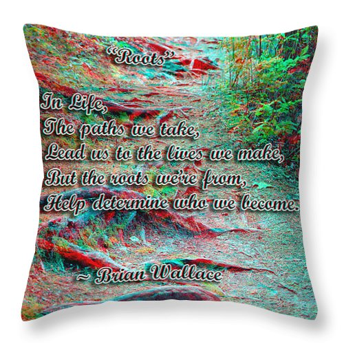 3d Throw Pillow featuring the photograph Roots - Use Red/cyan Filtered 3d Glasses by Brian Wallace