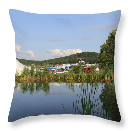 Rootwire Transformational Arts Festival 2k14 Throw Pillow featuring the photograph Rootwire Transformational Arts Festival 2k14 by PJQandFriends Photography