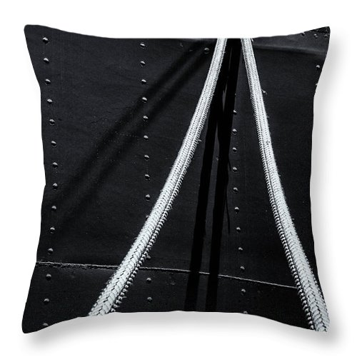 Ship Throw Pillow featuring the photograph Ropes by Alexander Fedin