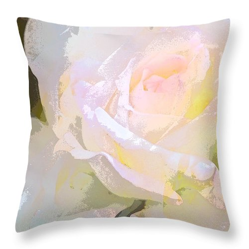 Floral Throw Pillow featuring the photograph Rose 254 by Pamela Cooper