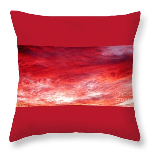 Sunset Throw Pillow featuring the photograph Rose Colored Sunset by Julia Walsh