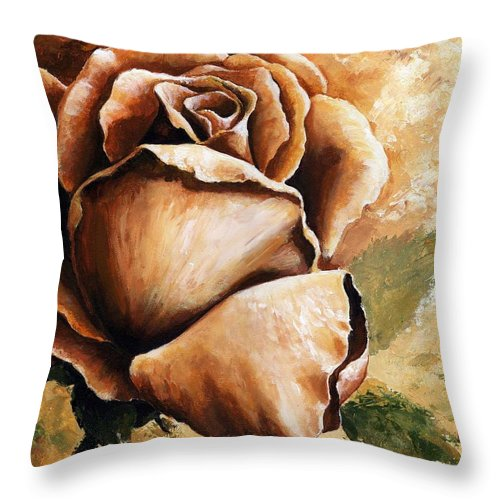 Still Life Throw Pillow featuring the painting Rose by Emerico Imre Toth
