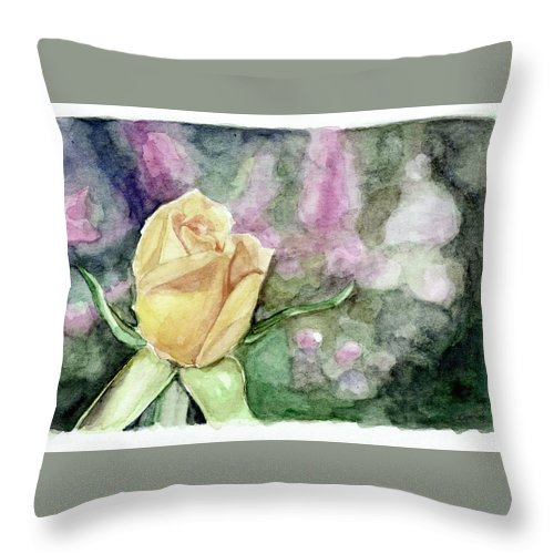Rose Throw Pillow featuring the painting Rose by Marvin Borst