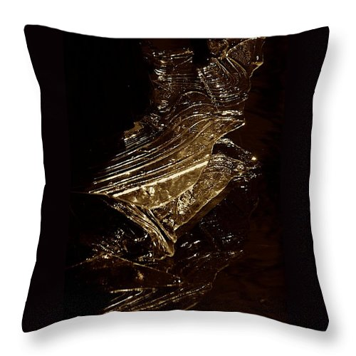 Ice Formation Throw Pillow featuring the photograph Rose Of Nature by Joseph Yarbrough