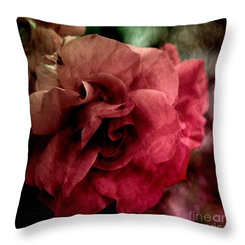 Background Throw Pillow featuring the mixed media Rose by Vanessa GF