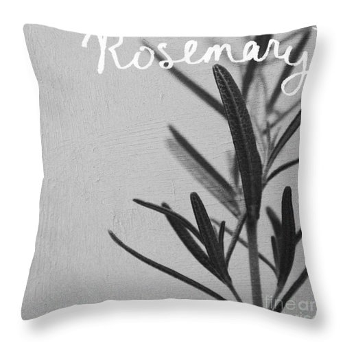 Rosemary Throw Pillow featuring the mixed media Rosemary by Linda Woods