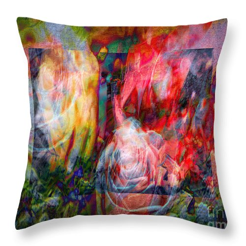 Horizontal Throw Pillow featuring the photograph Roses For Ruth by Edmund Nagele