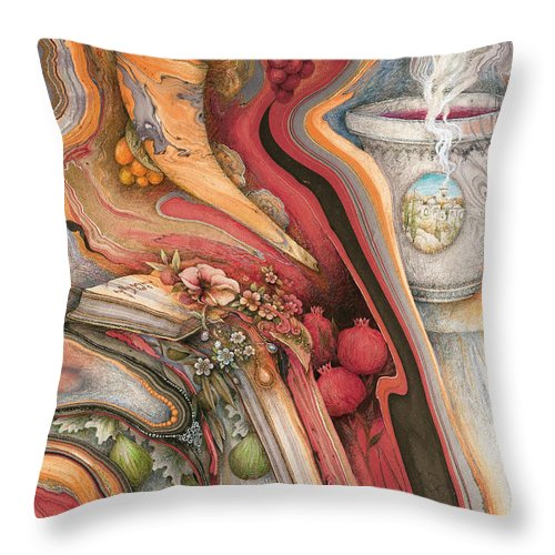 Ancient Throw Pillow featuring the painting Rosh Hashanah Meditation by Michoel Muchnik