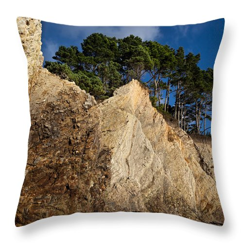 Pacific Throw Pillow featuring the photograph Ross Creek Cliffs by Kathleen Bishop