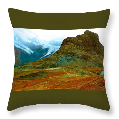 Rotenboden Throw Pillow featuring the photograph Rotenboden Stop by Dwight Pinkley
