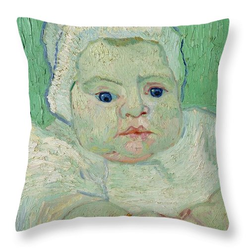 1888 Throw Pillow featuring the painting Roulin's Baby by Vincent van Gogh