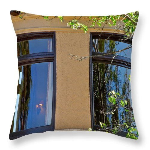 Rounded Victorian Window Throw Pillow featuring the photograph Rounded Victorian Window by Kirsten Giving