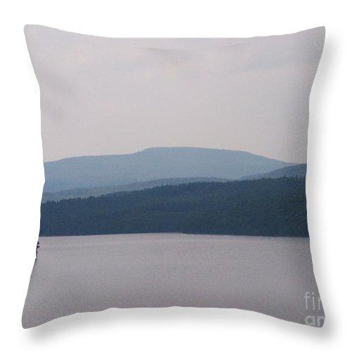 Roundout Reservoir Throw Pillow featuring the photograph Roundout Reservoir by Kevin Croitz