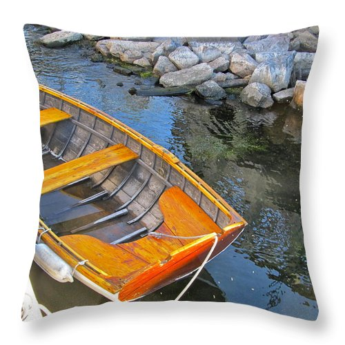 Photography Throw Pillow featuring the photograph Row Boat by Mike Reilly