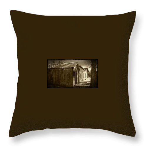 Ghosttown Throw Pillow featuring the photograph Row Of Houses by Jennifer Lavigne
