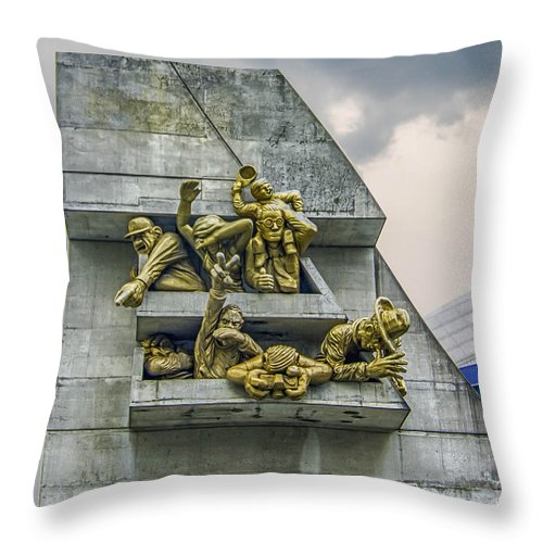 Guy Whiteley Photography Throw Pillow featuring the photograph Rowdy Jays Fans by Guy Whiteley