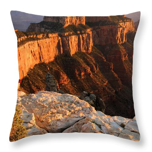 Grand Canyon Throw Pillow featuring the photograph Royal Meditation by Adam Jewell
