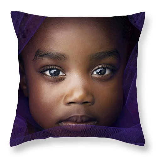 Purple Throw Pillow featuring the photograph Royalty by La'Trice Dixon