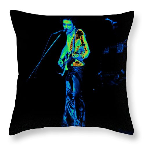 James Dewar Throw Pillow featuring the photograph Rt #12 Crop 2 In Cosmicolors by Ben Upham