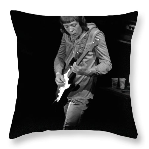 Robin Trower Throw Pillow featuring the photograph Rt #17 Crop 2 Enhanced by Ben Upham
