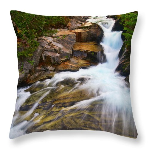 Landscape Throw Pillow featuring the photograph Ruby Falls 3 by Don Hall