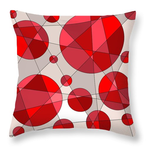 Geometric Throw Pillow featuring the digital art Ruby Tuesday by Jeff Gater