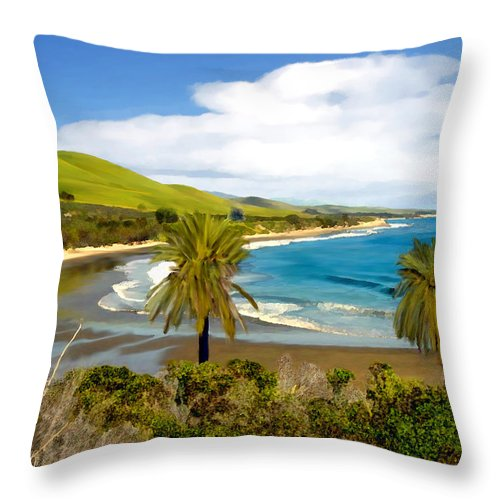 Ocean Throw Pillow featuring the photograph Rufugio by Kurt Van Wagner