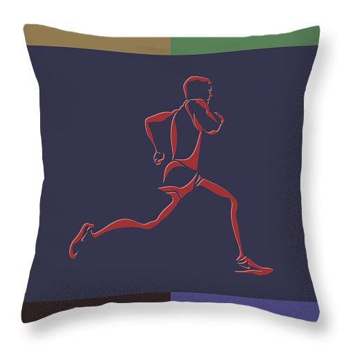 Runner Throw Pillow featuring the photograph Running Runner by Joe Hamilton