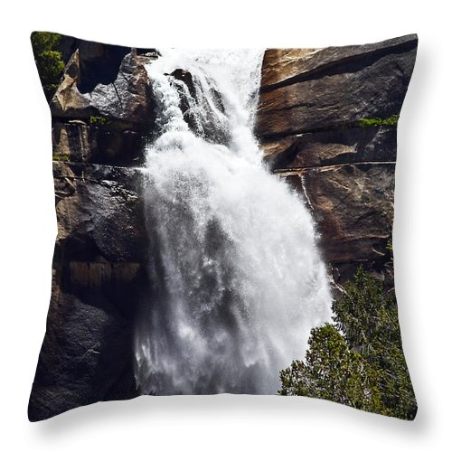 River Throw Pillow featuring the photograph Rushing River by Brian Williamson