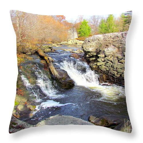 Royal River Throw Pillow featuring the photograph Rushing Waters by Elizabeth Dow