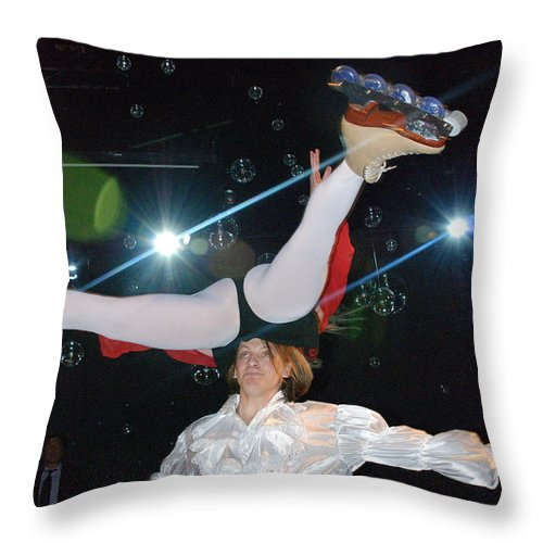 Russian Skating Dancers Throw Pillow featuring the photograph Russian Skating Dancers 2 by Constantin Raducan