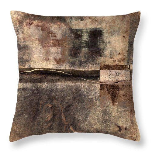 Rust Throw Pillow featuring the photograph Rust And Walls No. 2 by Carol Leigh